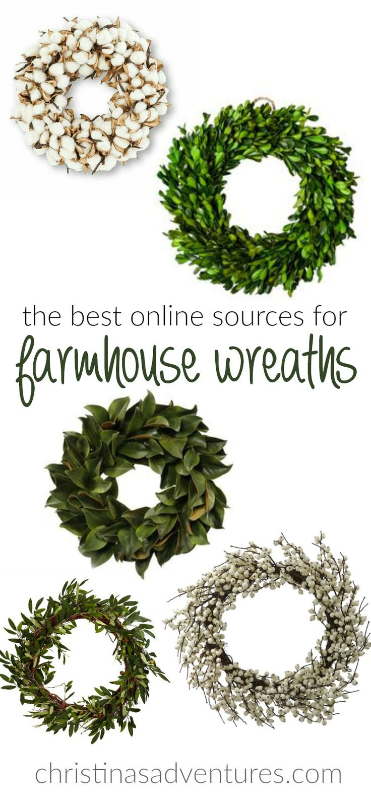 If youre fixer upper and farmhouse obsessed, youll need some great wreaths for…