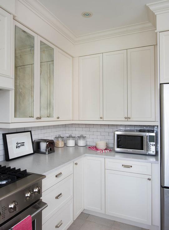 Silestone Lagoon Countertops Suede Leather Finish Transitional Kitchen Decor Pinterest