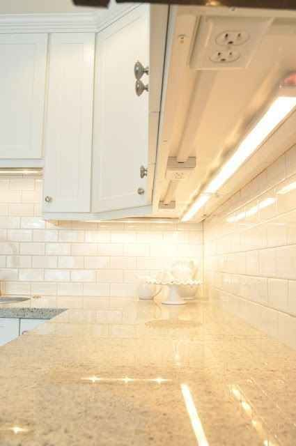 You could also install your outlets underneath your kitchen cabinets so they don't interfere with the backsplash.