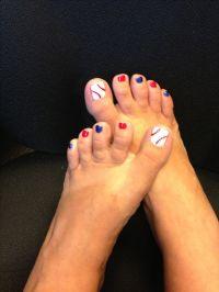Baseball toenails   fingernail polish and styles   Pinterest
