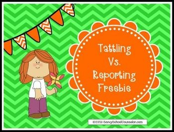 Images About Tattling Vs Reporting Activities On