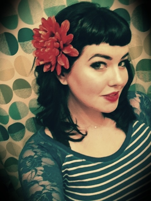 Bettie Bangs With Curl And Flower And There's An Idea For Lacy