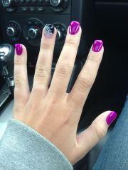 halloween nails - love purple