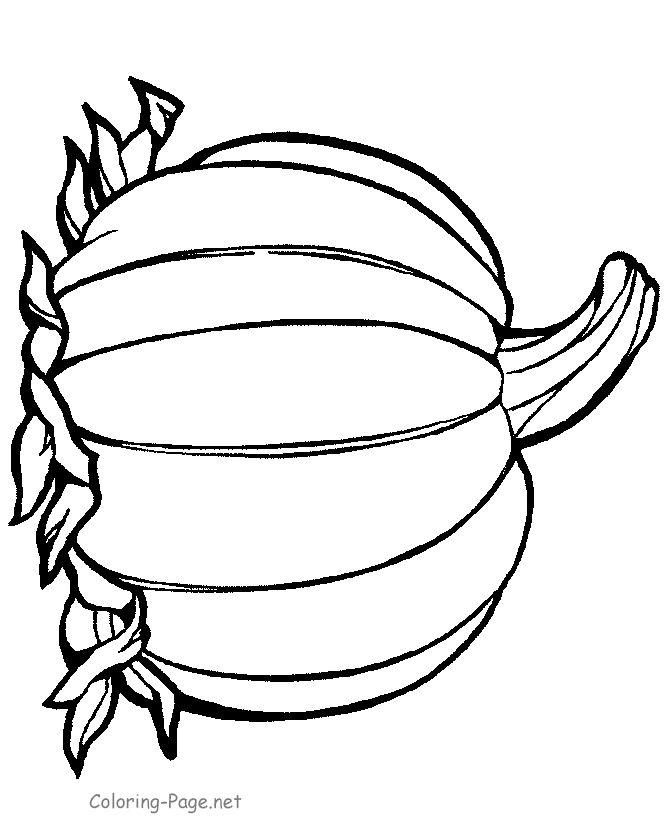 thanksgiving coloring page  pumpkin 3  stencils/clip art