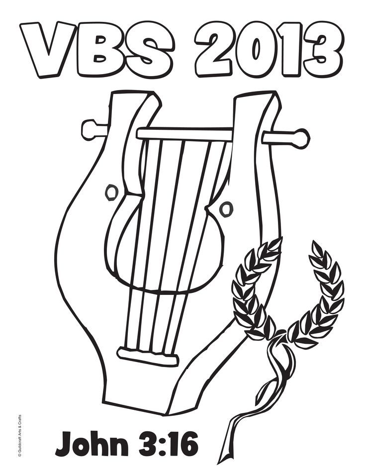 Free Athens VBS 2013 coloring sheet from Guildcraft Arts