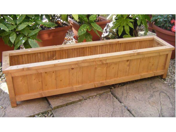 Handmade+Wooden+Garden+Planter+Windowbox+Trough
