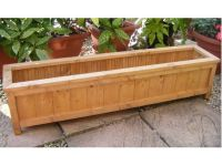 Handmade+Wooden+Garden+Planter+Windowbox+Trough