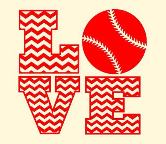 Download Chevron Love Baseball Softball svg, dxf file scrapbook ...