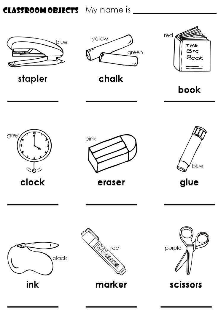 78 best images about Classroom Objects (Los objetos dentro