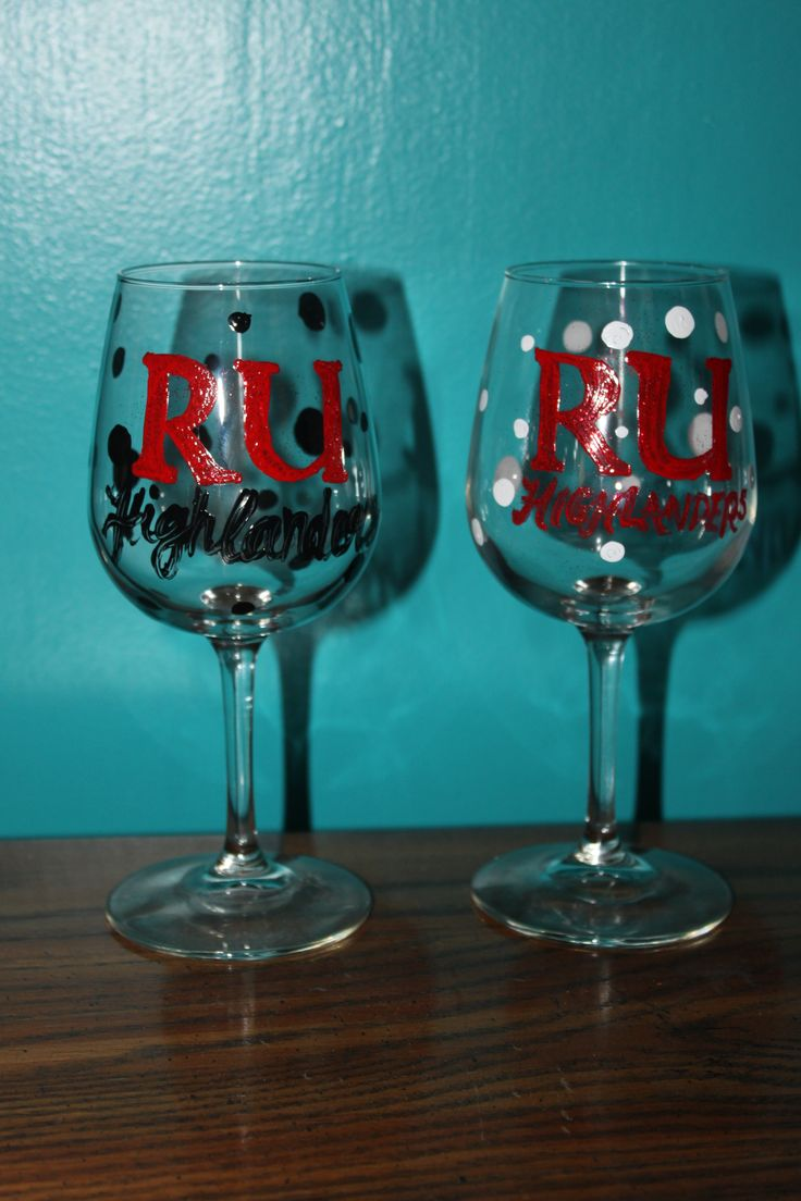 Diy Radford University Wine Glasses Graduation Presents