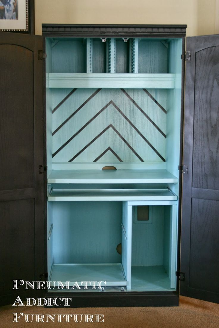 17 Best ideas about Computer Armoire on Pinterest  Craft