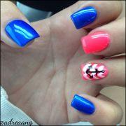 colorful nails acrylic nail