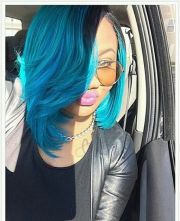 blue bob sew-in hairstyles