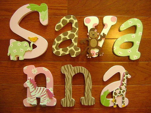 25+ Best Ideas About Painted Wood Letters On Pinterest