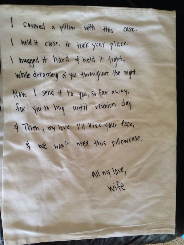 Pillowcase To Send Deployed Husband Military Deployment