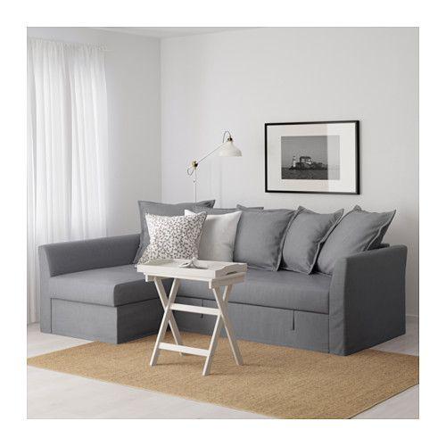 HOLMSUND Sleeper sectional 3seat Nordvalla medium gray