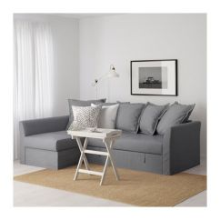 Ikea Sofa Sectional Bed Soft Leather Sofas Uk Holmsund Sleeper Sectional, 3-seat, Nordvalla Medium Gray ...