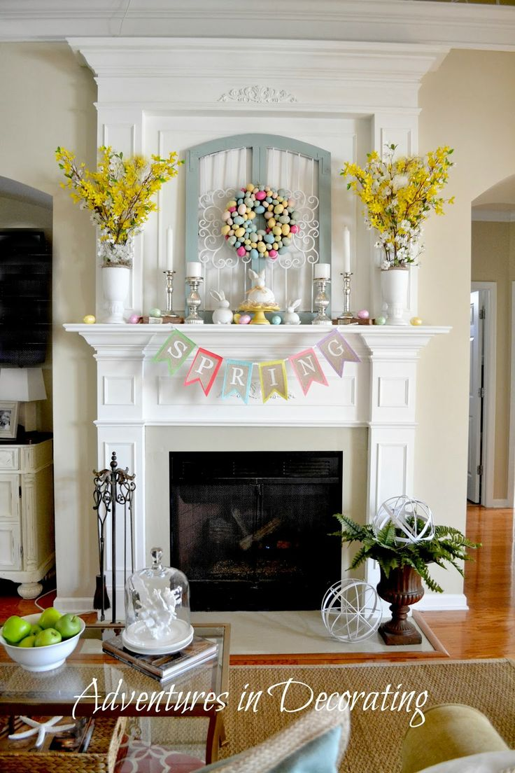 1000 ideas about Fireplace Mantel Decorations on Pinterest  Mantles Mantle decorating and