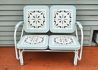 Price Reduction-Vintage Awesome Double Outdoor Metal PATIO ...