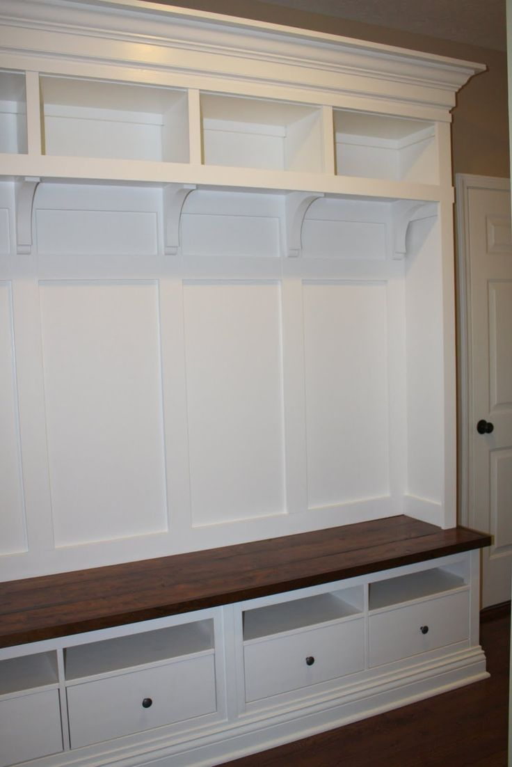 Mud Room Furniture IKEA | Materials: Hemnes two drawer TV console (two), or use one three drawer