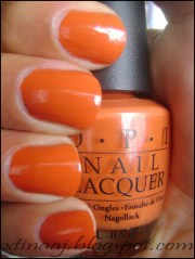 ideas orange nail