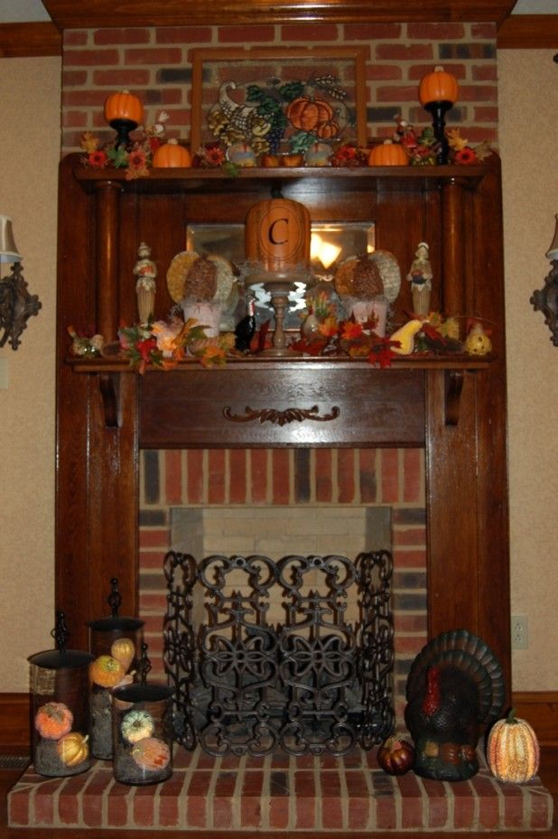 Thanksgiving Fireplace Decorating Ideas  List 17 Ideas in Deluxe Thanksgiving Mantle Decorating