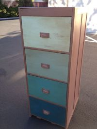 Wooden file cabinet painted in Old Town Paints Chalk Style ...
