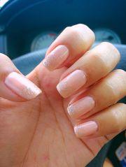 neutral gel nails beige silver