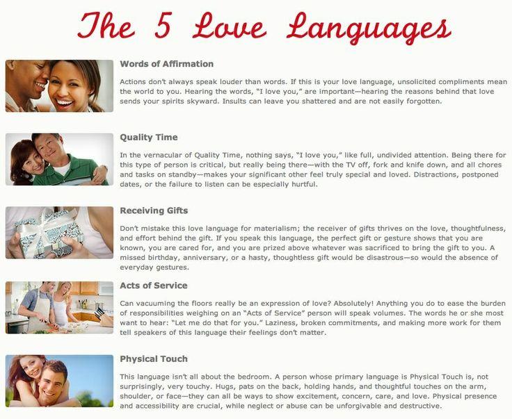 5 love languages relationship keys pinterest