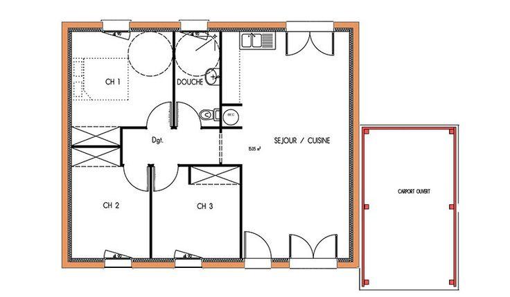 Plan De Maison En U Ouvert. Simple Agrandir Un Plan En U Avec Un