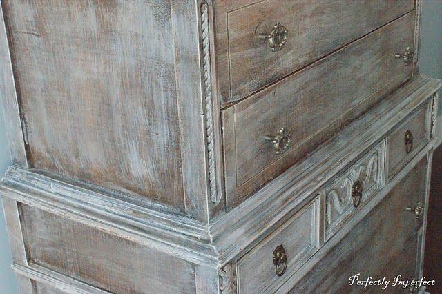 Whitewashing vs Dry Brushing  Grey stain Painted