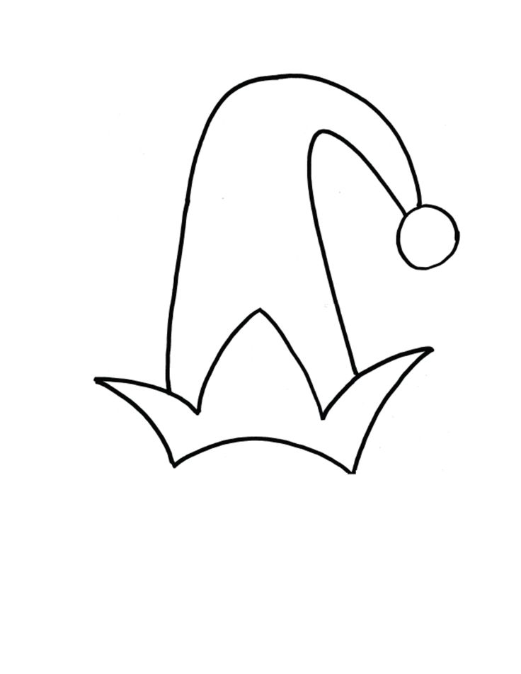 Elf Ear Template Printable Sketch Coloring Page