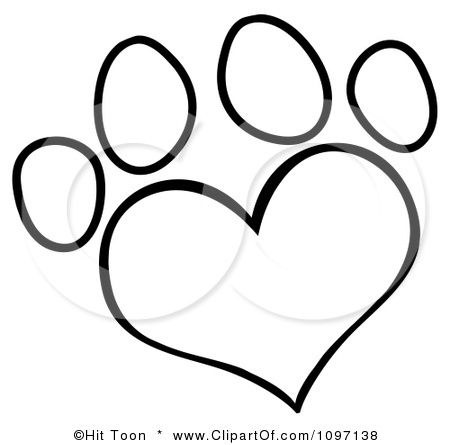 heart paw print tattoo Yes and with Auburn Girl inside