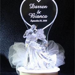 Wedding Chair Covers Pinterest Hanging Under Loft Bed Lighted Cake Topper | Personalized Bride & Groom Bianca Top Ornament ...