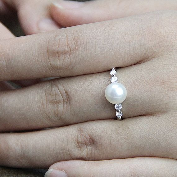 25+ best ideas about Pearl rings on Pinterest