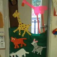 Zoo animals door decoration | Teaching: Class Organization ...