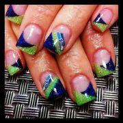 seahawk nails nail design