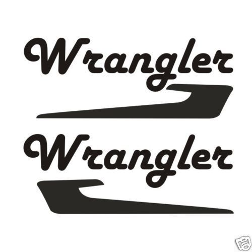 Jeep Wrangler Graphic Bold Script Font Stickers/Decals