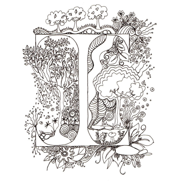 Colour-Me-In Alphabet- A-Z, the whole alphabet in