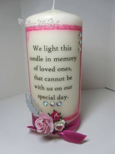 "Wedding Memorial Candle ""We Light This Candle In Memory"