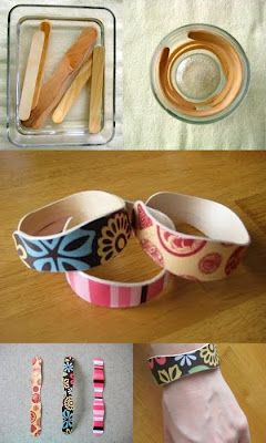 popsicle stick cuffs. These