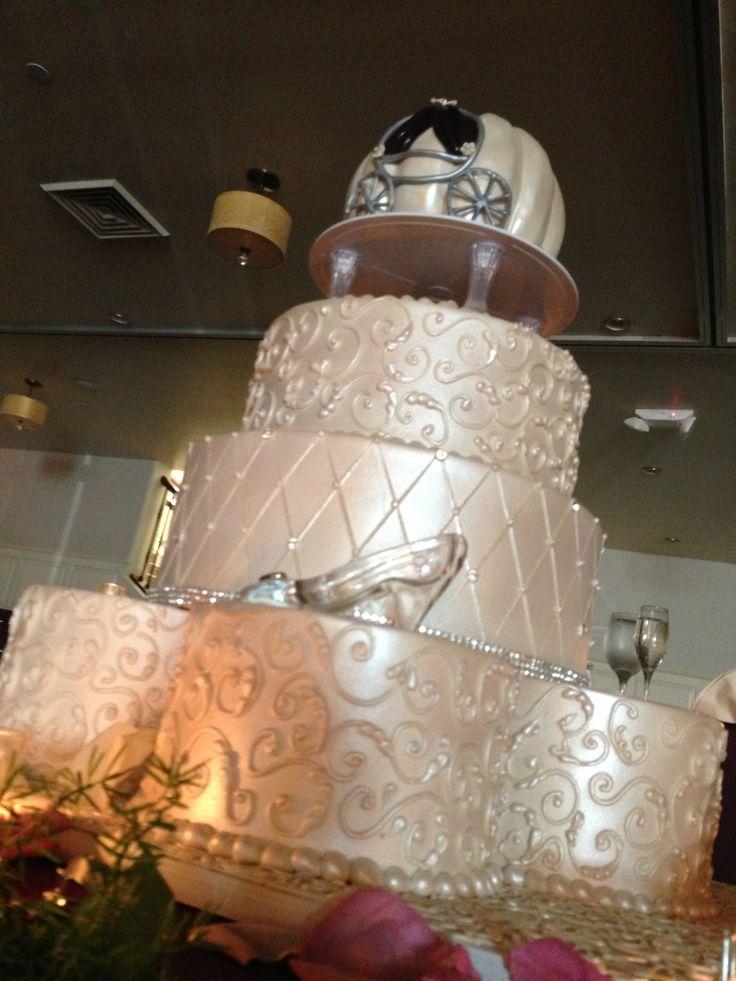 Cinderella themed wedding cake  Fun Ideas  Pinterest