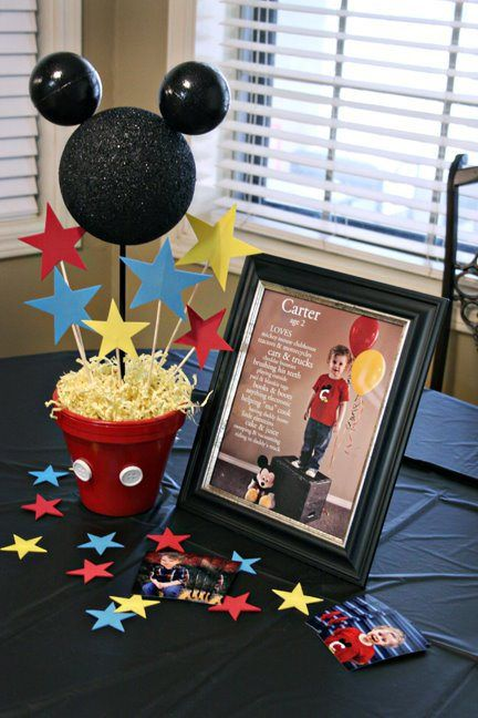 1000 ideas about Mickey Mouse Centerpiece on Pinterest