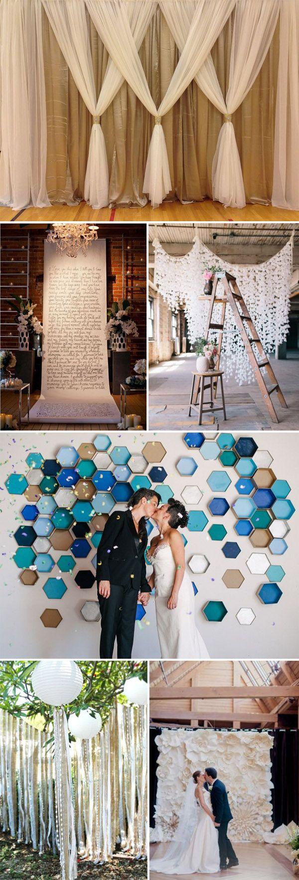 diy wedding backdrop ideas
