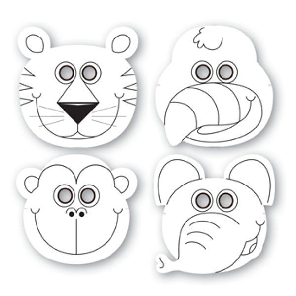 Jungle Buddies Color Your Own Paper Masks (for purchase