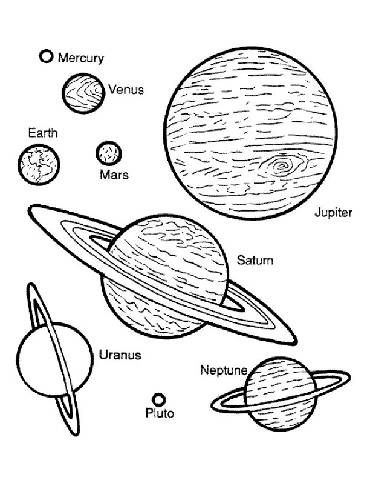Preschool Space Coloring Pages. Going to use this for an