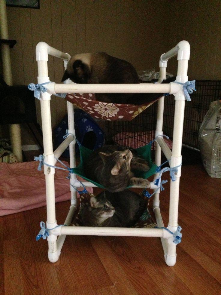 Diy Cat Hammock I made a 3 tier cat hammock cat hammock