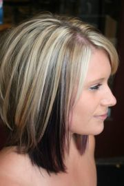 highlights with color blocked black