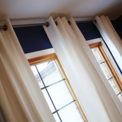 Houzz Living Room Paint Leather Ideas Dark Blue Walls, Oak Trim & White Curtains | For The Home ...
