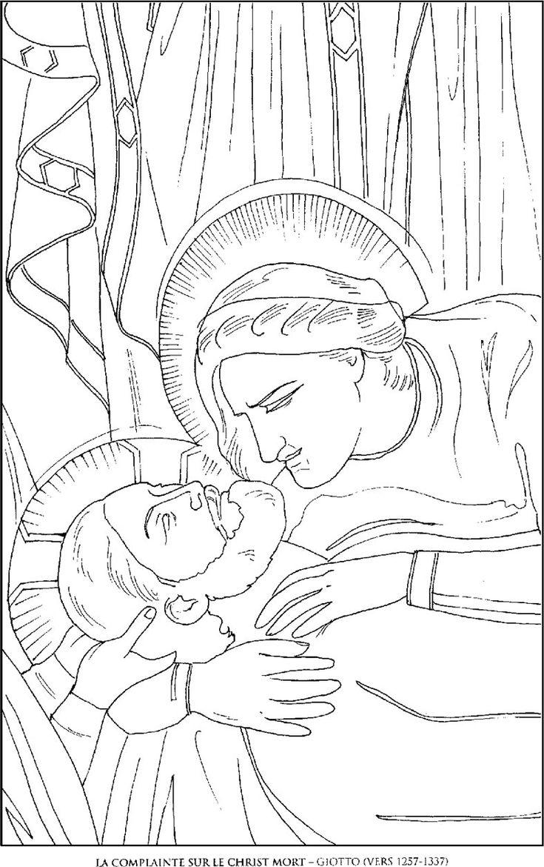 La-Complainte-sur-le-Christ_Giotto Famous paintings
